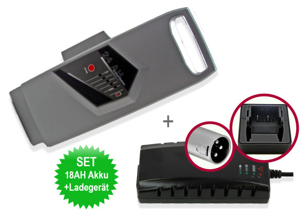 eBike Akku Batterie SET Excalibur Ersatzakku für Panasonic 26V 18Ah + Ladegerät 4Ah