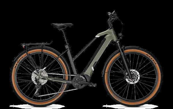 Kalkhoff ENTICE 5.B ADVANCE Trapez urbangreen/magicblack matt 2021 E-Bike Bosch 625 Wh